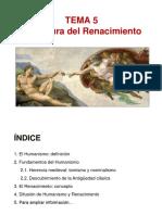 TEMA 5 - La cultura del Renacimiento