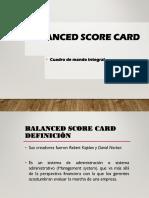 Balance Score Card - EF