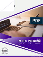 M.Des. at VIT Vellore - eBrochure 2018