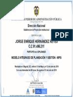 MODELO INTEGRADO DE PLANEACIÓN Y GESTIÓN - MIPG I