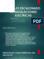 Trabajo escalonado de instalaciones eléctricas