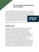 Contradicciones de la descentralización fiscal en México El caso de Chiapas