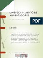 DIMENSIONAMIENTO DE ALIMENTADORES