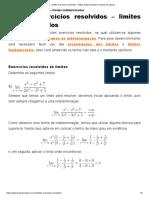 Limites exercícios resolvidos - limites indeterminados no Dicas de Cálculo.pdf