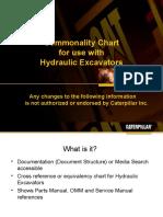 Commonality Chart for excavators 2011