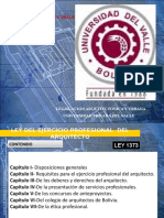 5.- LEY 1373 DEL ARQUITECTO BOLIVIANO