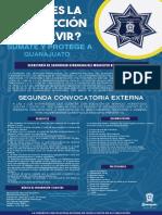 Segunda Convocatoria Policía municipal Guanajuato 2020
