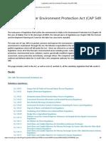 Legislation Under Environment Protection Act (CAP 549)
