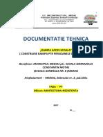 Construire rampa acces Memoriu CS-PT scoala CI Motas Medias