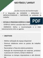 Layout ESTUDO DE LOCALIZAÇÃO