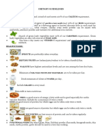 Dietary guidelines for project pmp