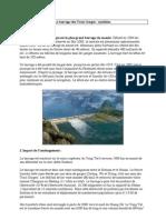 Le barrage des Trois Gorges synthèse FA