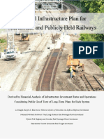 National Infrastructure Plan for Shareholder and Publicly Held Railways