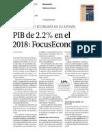 PIBde22enel 2018 FocusEconomics