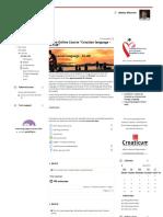 Course_ Open Online Course _Croatian language - A1.HR_