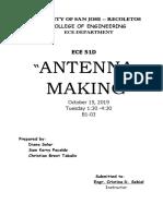 The Antenna Making (Yagi)