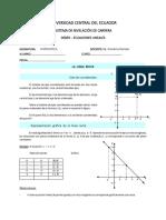deber recta y ecuaciones lineales