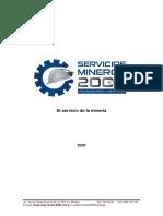 SERVICIOS MINEROS 2000 EXPERIENCIA