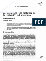 Vazquez Recio, R (2003). Los exámenes, una metáfora de la evaluación del alumnado.