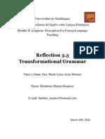 Reflection Transformational Grammar