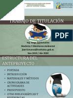 TRABAJO DE TITULACIÓN-ESTRUCTURA DEL ANTEPROYECTO