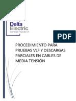Procedimiento de Prueba VLF y descargas Parciales