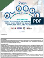 Guidbook. Retail and F&B.Talent Development Prog. 2019