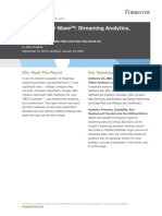 Streaming Analytics 2019