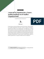 Teoría de la organización y nuevo institucionalismo en el análisis organizacional