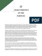 CHARACTERISTICS OF THE PAROUSIA Hope Ovwah