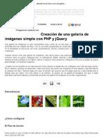 jdmweb.com _ Cómo crear una galería de imágenes simple con PHP y jQuery_es