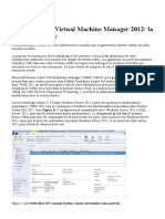 la gestion virtuelle SCVMManager 2012