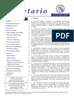 Datos Monetarios Argentina 2007