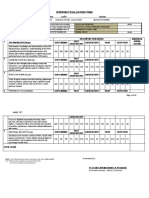 Interview Evaluation Forms for PCpl to PMSg