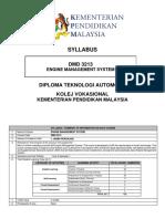 SYLLABUS 9) DMD 3213 - ENGINE  MANAGEMENT SYSTEM (2020)