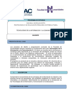 Programa TIC II - FAHUSAC
