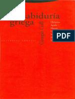 Giorgio Colli, La sabiduría griega (2)-1