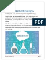 INVESTIGATORY Report on Biotechnology