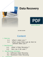 Data Recovery Processes and Plans.