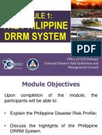 Module 1_Philippine DRRM System