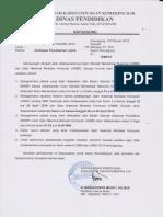 surat untuk antisipasi pemadaman listrik