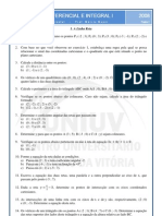 Lista de Exercicio Com Gabarito Geometria Analitica