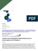 L'Alliance des organisations democratiqu - Catherine Gaudard
