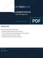 CyberArk 03-PAS-ADMIN User Management