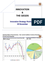 Innovation and the GEGDS - Innovation Strategy Workshop 29 November