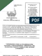ordenanza municipal ambiental Puerto Cabello