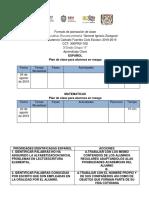 Formato de planeación de clase Prudencio