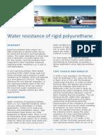 Factsheet 4 Water Resistance of Rigid Polyurethane