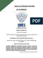 Campo laboral del ingeniero mecánico en el área automotriz en Durango.pdf