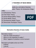 Normative theories of mass media